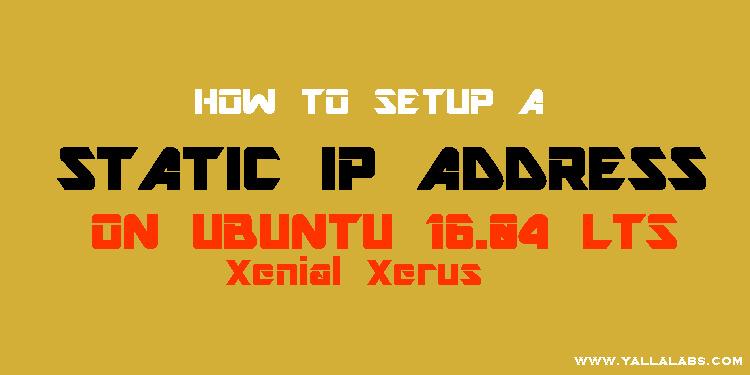 Configure ip address ubuntu 16