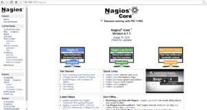 nagios web interface GUI