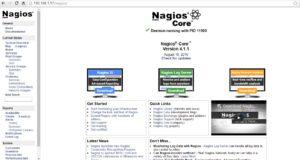 nagios web interface GUI