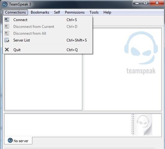 Teamspeak 3 main window