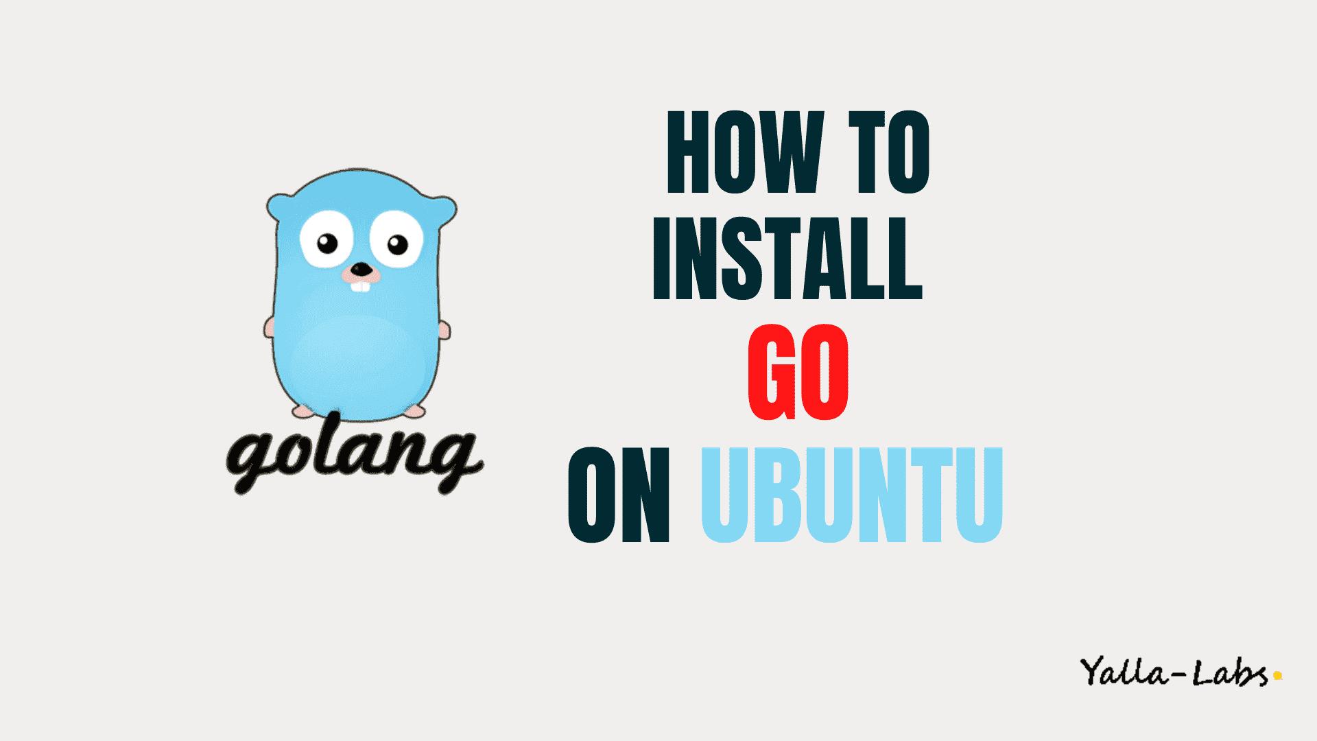 How To Install Go On Ubuntu 20 04 Lts Yallalabs