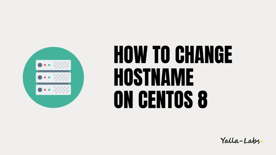 How to change hostname in centos 8