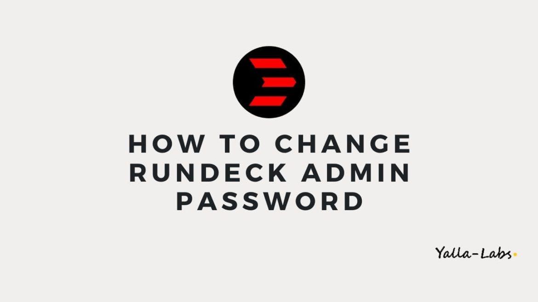 change admin password