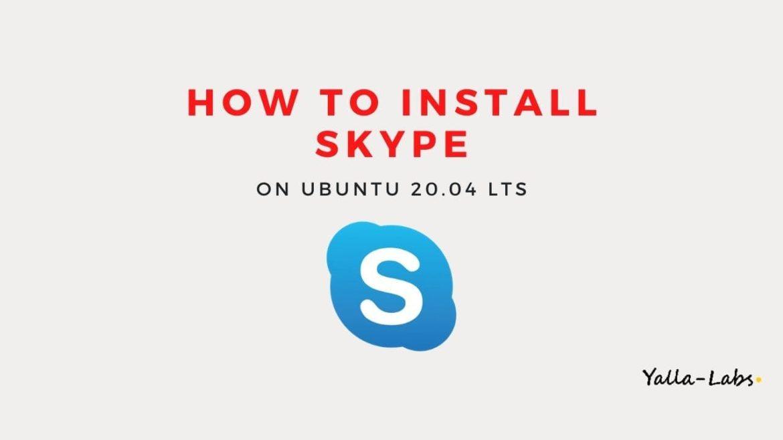 how to install skype on ubuntu 20.04