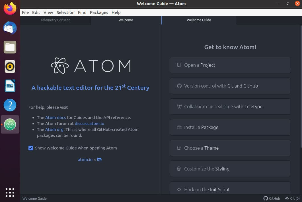 How to Install Atom Text Editor on Ubuntu 20.04 lts