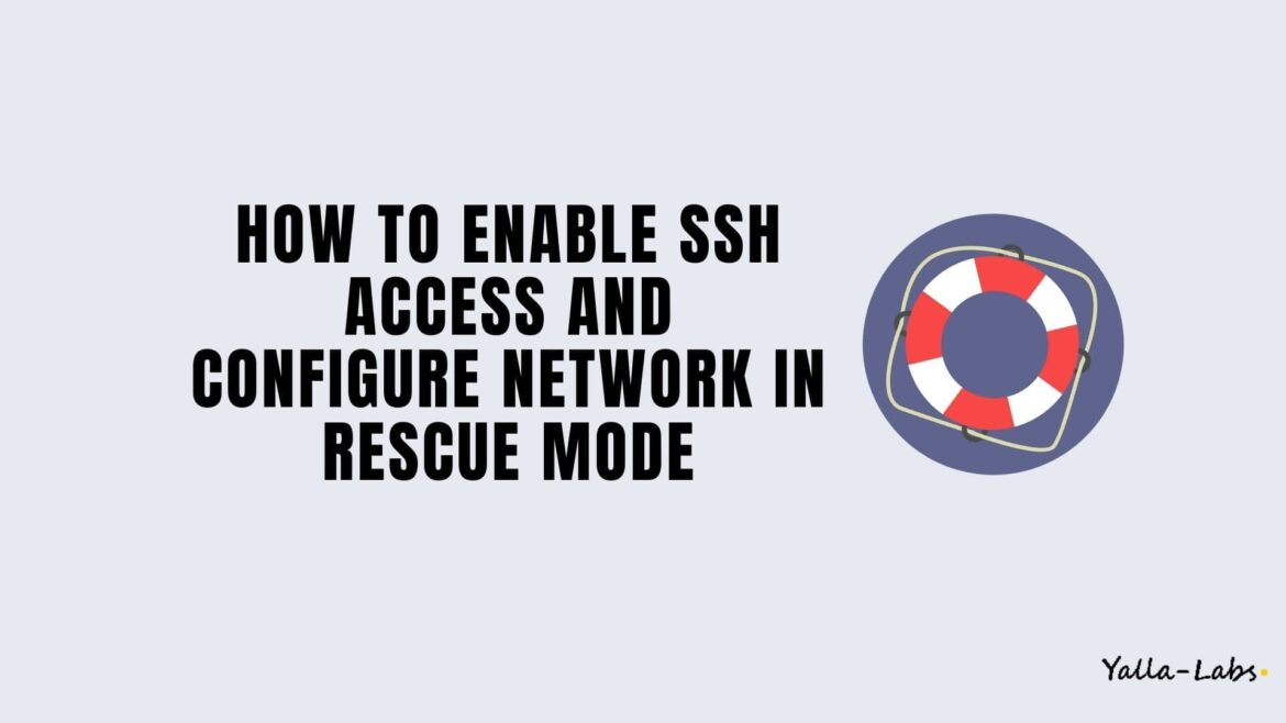 How to enable SSH access and configure network in rescue mode on centos